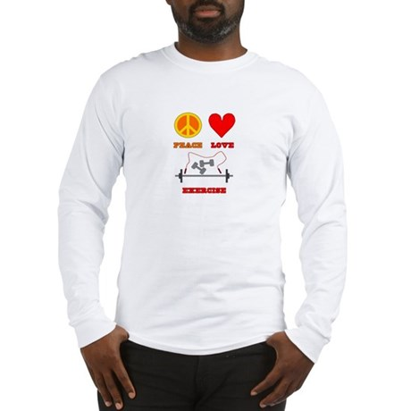 Peace Love Exercise Long Sleeve T-Shirt