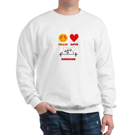 Peace Love Exercise Sweatshirt