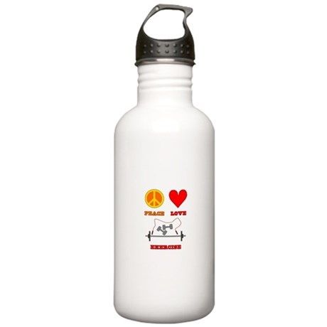 Peace Love Exercise Stainless Water Bottle 1.0L