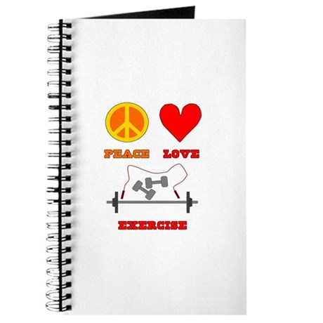 Peace Love Exercise Journal