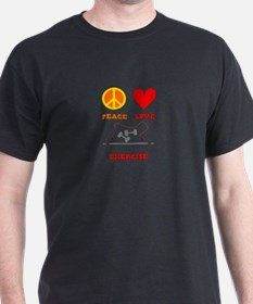 Peace Love Exercise T-Shirt