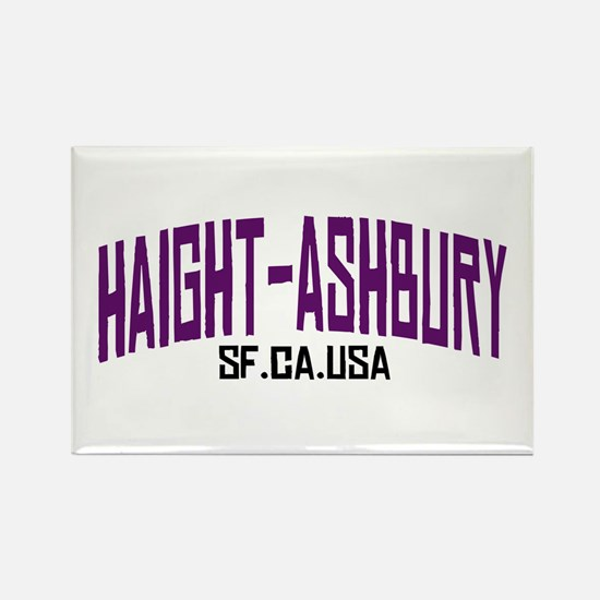 HAIGHT ASHBURY SF Rectangle Magnet