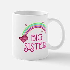 Big Sister Rainbow Hearts Mug