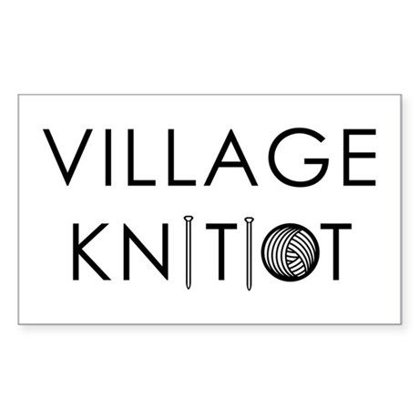 Village Knitiot Rectangle Sticker