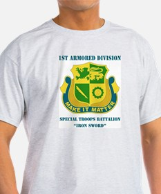 DUI - Div - Special Troops Bn with Text T-Shirt
