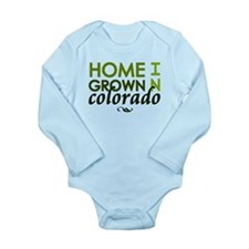 'Home Grown In Colorado' Long Sleeve Infant Bodysu