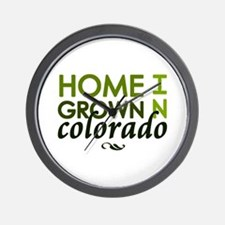 'Home Grown In Colorado' Wall Clock