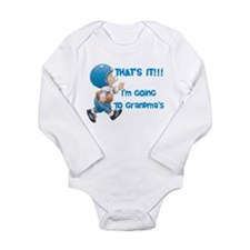 Going To Grandma's Long Sleeve Infant Bodysuit