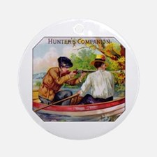 Hunters Companion Cigar Label Ornament (Round)