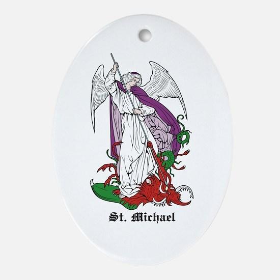 St. Michael Oval Ornament