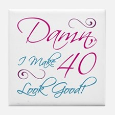 40th Birthday Humor Tile Coaster