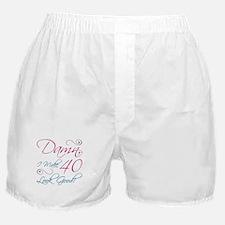 40th Birthday Humor Boxer Shorts