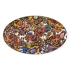 Digital Floral Pattern Art Decal
