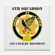 DUI - 6th Sqdrn - 1st Cav Regt with Text Tile Coas