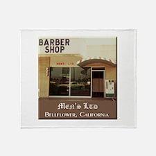 Men's Ltd Barber Shop Throw Blanket