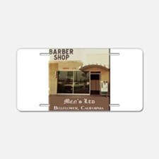 Men's Ltd Barber Shop Aluminum License Plate