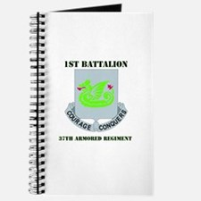 DUI - 1st Bn - 37th Armor Regt with Text Journal