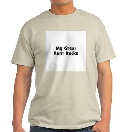 My Great Aunt Rocks Ash Grey T-Shirt