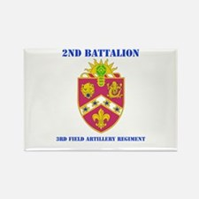 DUI - 2nd Bn - 3rd FA Regt with Text Rectangle Mag