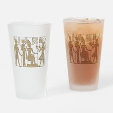 Vintage Egyptian Panel Drinking Glass
