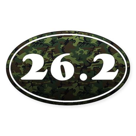 Marathon *camo* Sticker (Oval)