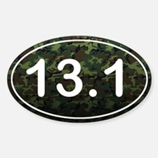 Half Marathon *camo* Sticker (Oval)