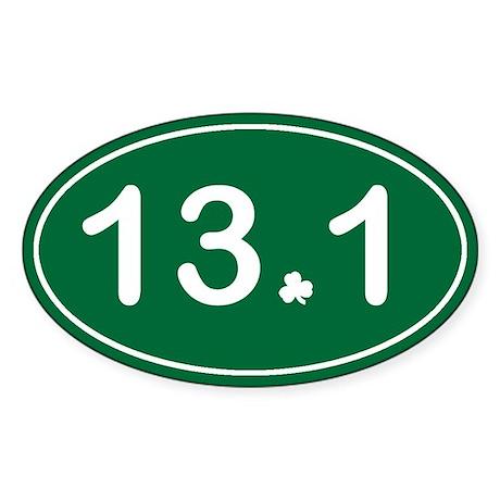 Half Marathon *irish* Sticker (Oval)