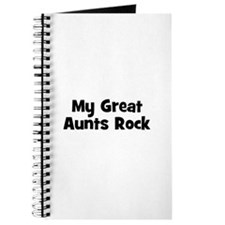 My Great Aunts Rock Journal