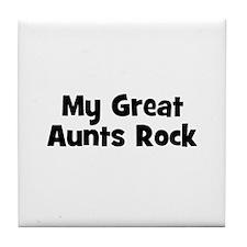 My Great Aunts Rock Tile Coaster