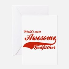 World's Most Awesome Godfather Greeting Card
