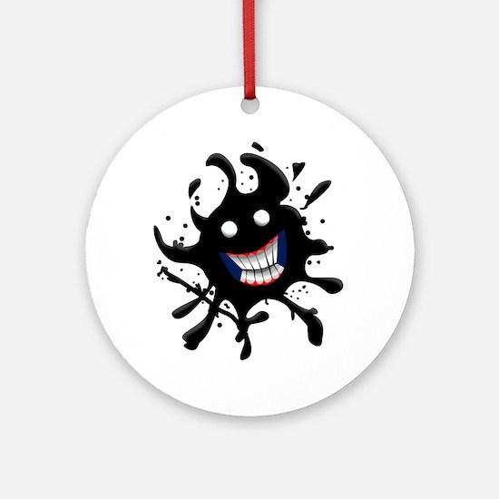 Oil Spill Smile Ornament (Round)