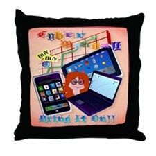 Cyber Monday-Bring It On! Throw Pillow
