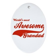 World's Most Awesome Grand dad Ornament (Oval)