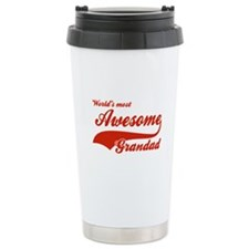 World's Most Awesome Grand dad Travel Mug