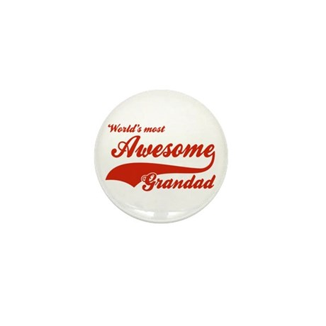 World's Most Awesome Grand dad Mini Button (10 pac