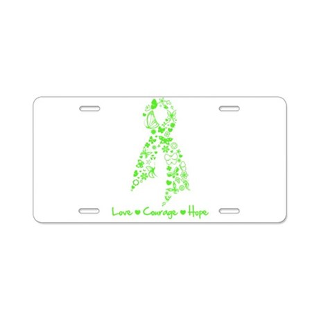 Lyme Disease Butterfly Aluminum License Plate