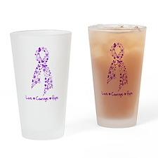 Lupus Awareness Butterfly Drinking Glass