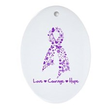 Lupus Awareness Butterfly Ornament (Oval)