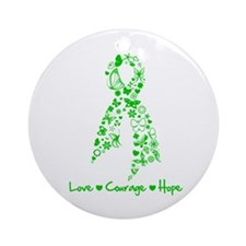 Kidney Disease Butterfly Ornament (Round)