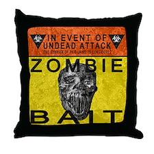Zombie Bait Label Throw Pillow