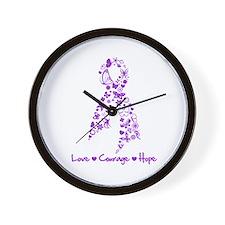 Fibromyalgia Butterfly Wall Clock