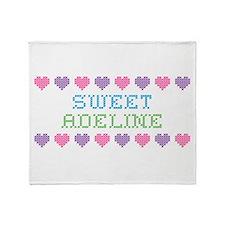 Sweet ADELINE Throw Blanket
