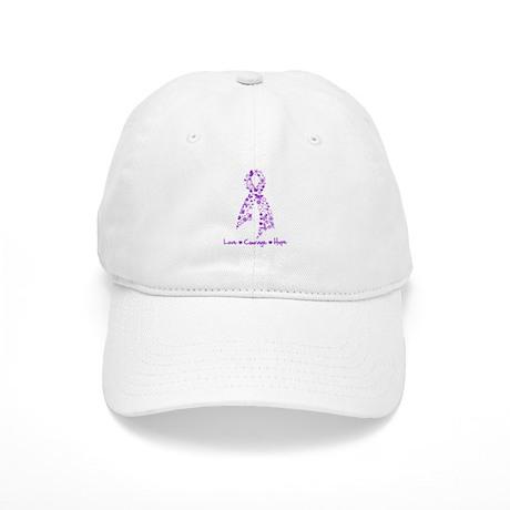 Butterfly Alzheimers Ribbon Cap