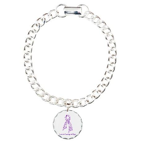 Butterfly Crohn's Disease Charm Bracelet, One Char