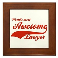World's Most Awesome Lawyer Framed Tile
