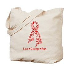 Butterfly Ribbon AIDS Tote Bag
