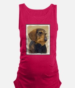 Dachshund (Wirehaired) Maternity Tank Top