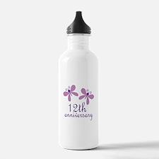12th Anniversary (Wedding) Water Bottle