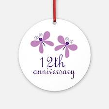 12th Anniversary (Wedding) Ornament (Round)
