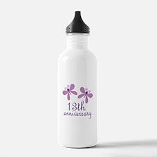 13th Anniversary (Wedding) Water Bottle